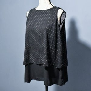 Philosophy Polka Dot Layered Tank Top NWT